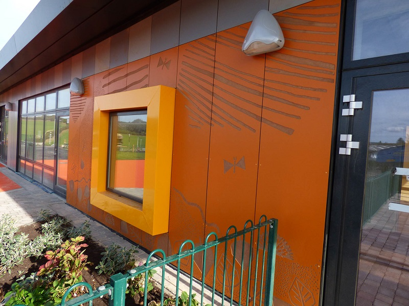 School is picture perfect with ROCKPANEL façade cladding