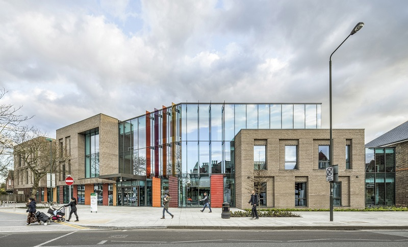 Curtain walling and doors by Kawneer feature on the new health centre