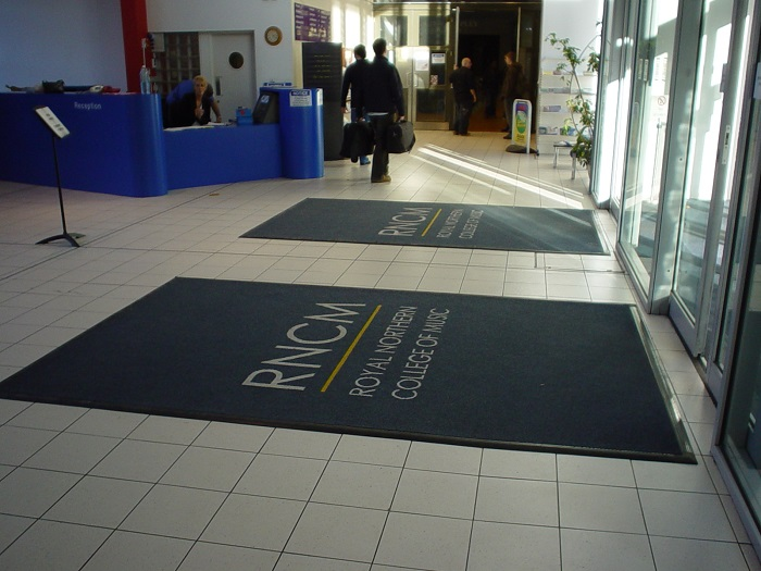 Bespoke entrance carpet design takes some beating