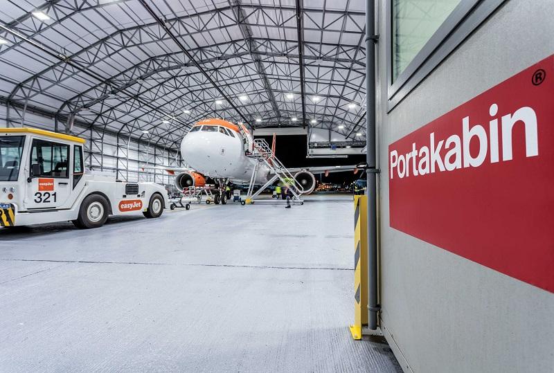 Portakabin for easyJet's modular hangar