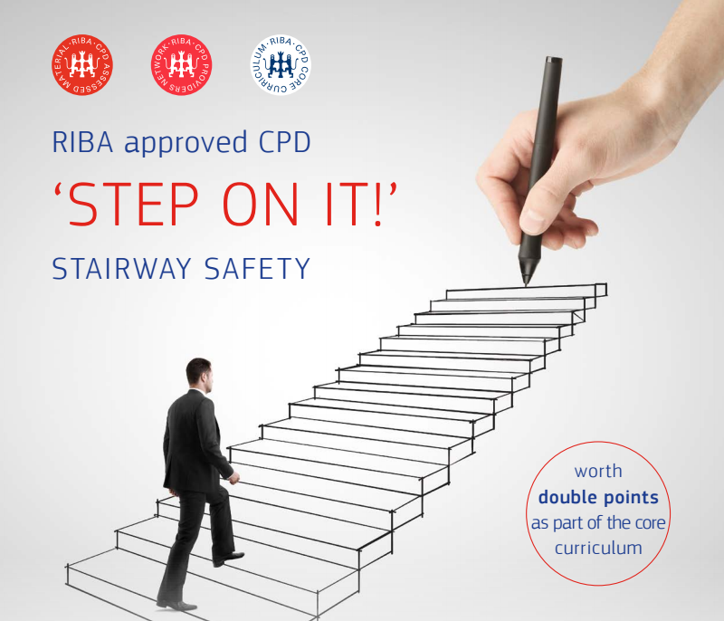 RIBA approved CPD 'STEP ON IT!' stairway safety