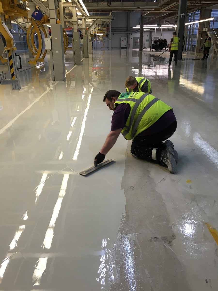 Sika's Rapid-Apply System Accelerates Delivery of High-Quality Floor to Rolls Royce Plant